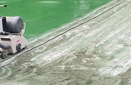 Scarifying concrete